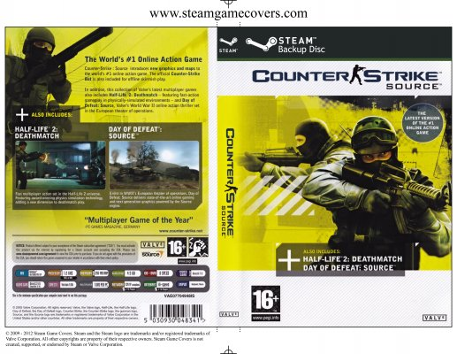 Steam Game Covers Counter Strike Source Box Art