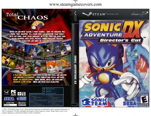 Steam Game Covers: Sonic Adventure DX Box Art